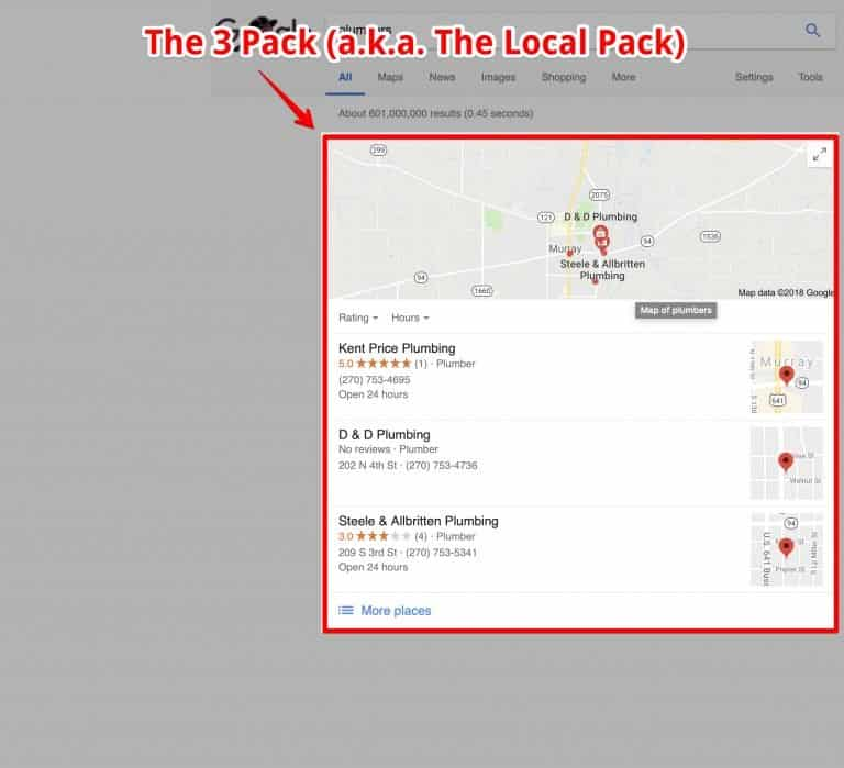 GMB Local Pack