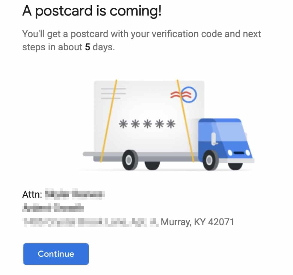 GMB Postcard is coming UI