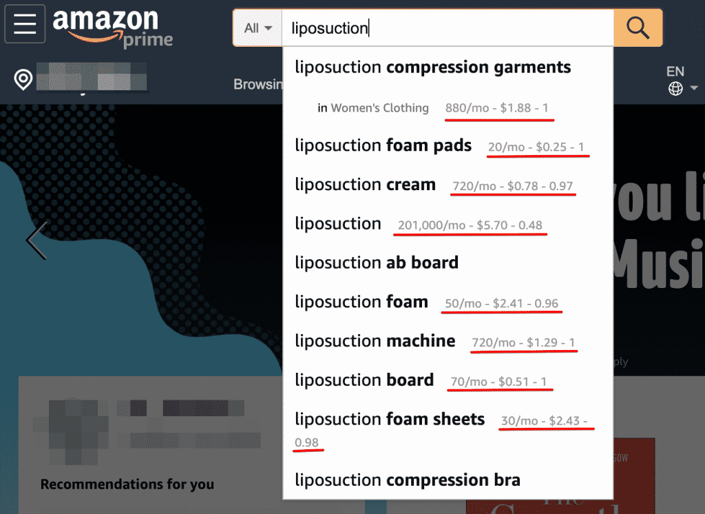 Amazon Keywords Everywhere Tool