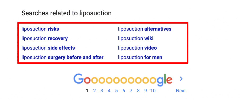 Google Searches Related To Liposuction