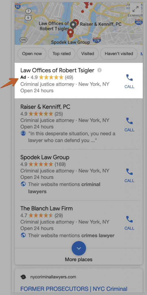 Serp Ad Local Listing Mobile
