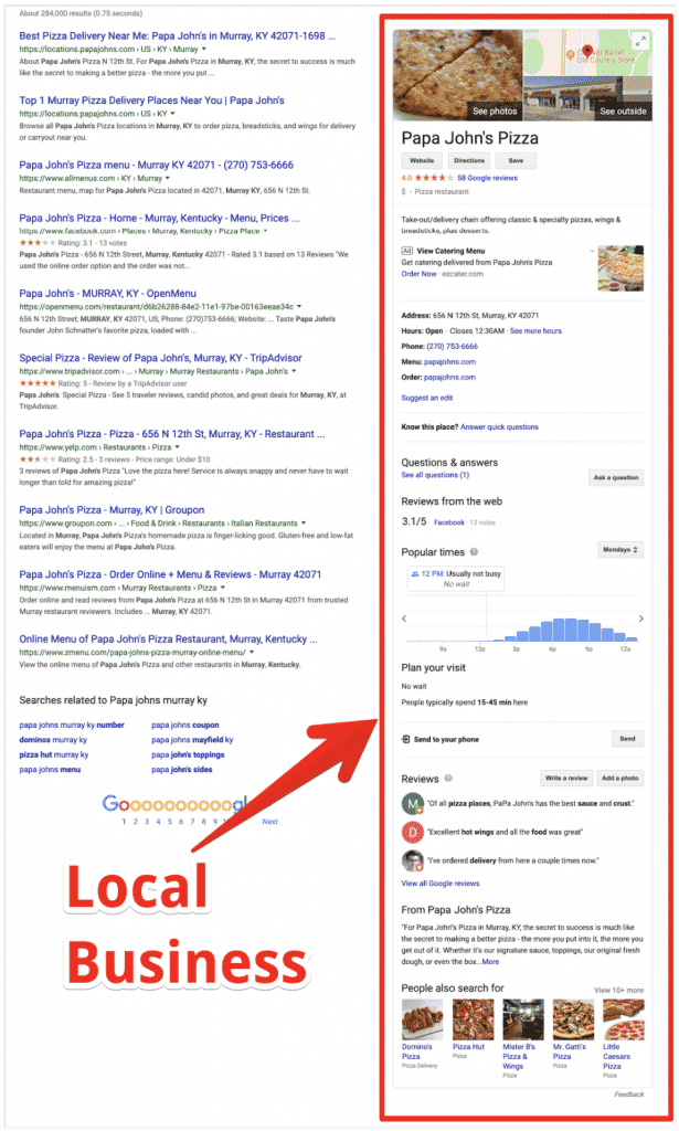 Serp Knowledge Panel