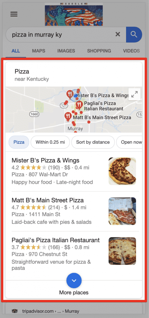 Serp Local Result Listings Mobile