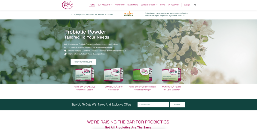 Health Supplement Web Design Project