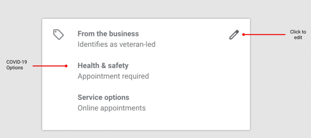 Google My Business Attributes and Highlights in the GMB Dashboard
