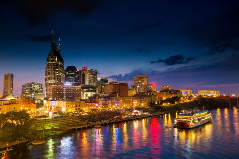 Downtown Nashville Tennessee at Twilight