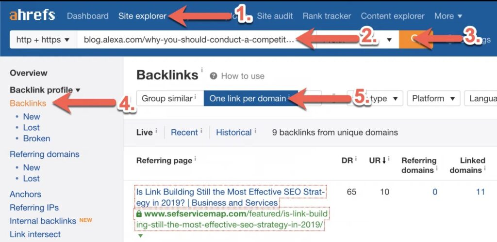 How to Run a Competitor Backlink Analysis in 9 Steps [with Template] 5