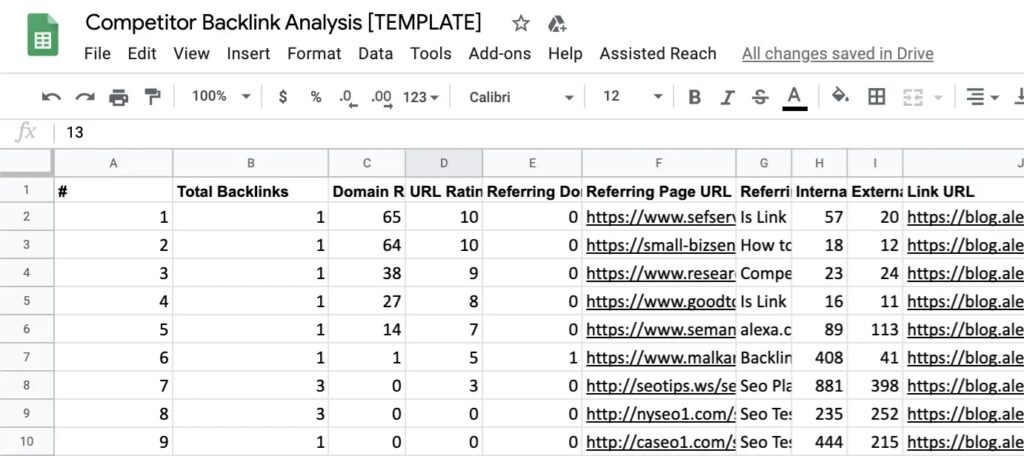 How to Run a Competitor Backlink Analysis in 9 Steps [with Template] 7
