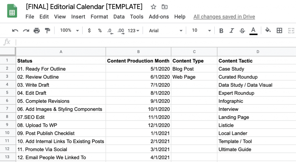 How to Build a Data-Driven Editorial Calendar for SEO [with Template] 42