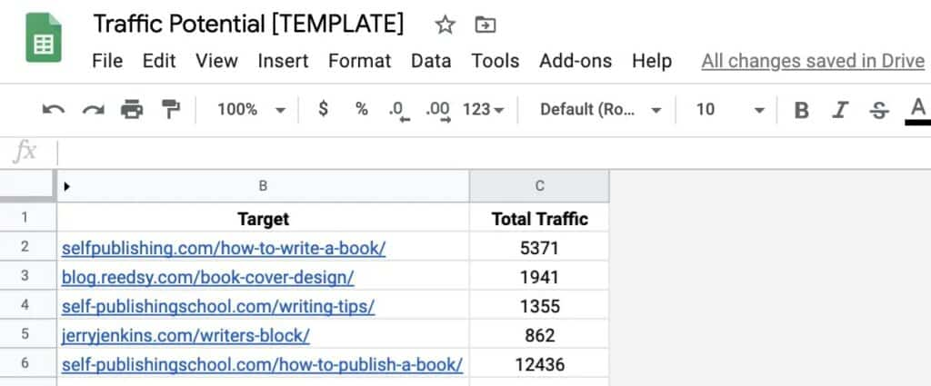 Calculate Website Traffic Potential with Simple Statistics [w/ Template] 6